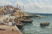 pittenweem from the harbour by alexander young