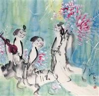 曲韵图 (lady) by jiang feng