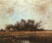 pastoral scene by william henry hilliard