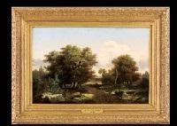 scène de campagne, plaine de barbizon by nicolas louis cabat