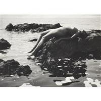 nude at the seaside (anna koppitz) by rudolf koppitz
