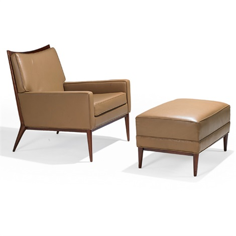lounge chair no 1322 and ottoman 2 works by paul mccobb