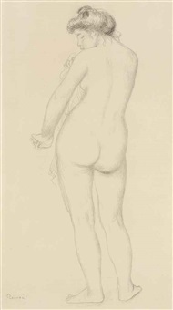 baigneuse de dos s'essuyant by pierre-auguste renoir