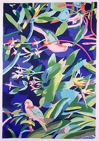 tropical birds by linda bastian