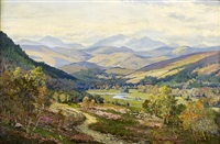 river landscape (deeside?) by george melvin rennie