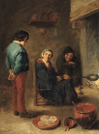 the pancake baker pannekoekenbakster by david teniers the younger