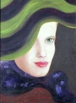 kvinna i hatt by ksema milicevic