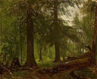 forest interior by george hetzel