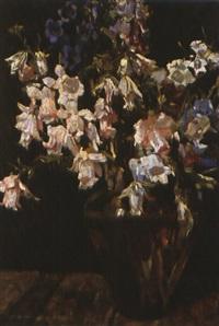 blumenstilleben in vase by hans müller-schnuttenbach