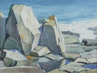 rocky shore by edward lis