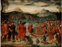 die israeliten opfern vor dem könig ahab by lucas gassel