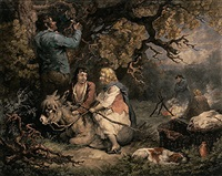 the woodcutter (after george morland) by william ward i