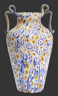 vase millefiori by vetreria fratelli toso