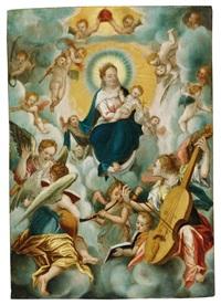 madonna mit dem kind und musizierenden engeln by johann mathias kager