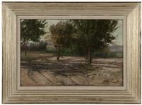trees in a california landscape by elmer wachtel