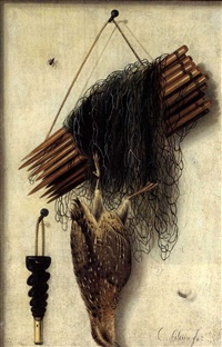 trompe l'oeil-jagdstilleben by cornelis (bilcius) biltius