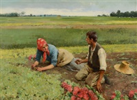 radish pickers by jose aranda