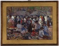 scène de marché by lodovico tommasi