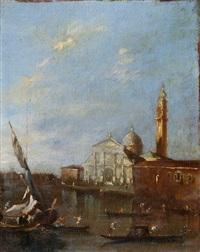 ansicht von venedig, im hintergrund santa maria della salute by francesco guardi