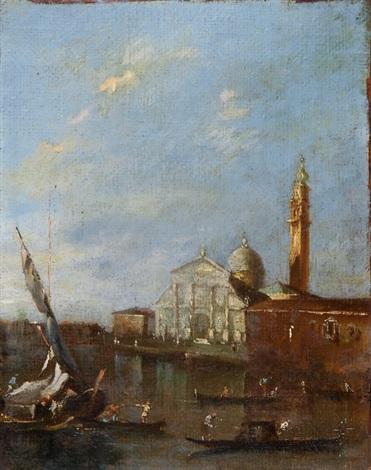 ansicht von venedig im hintergrund santa maria della salute by francesco guardi