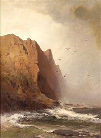 cliffs and stormy seas by carl von perbandt