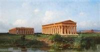 de antikke templer i pæstum i italien by alessandro la volpe