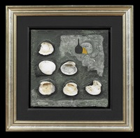 still life with oyster shells by mihail chemiakin