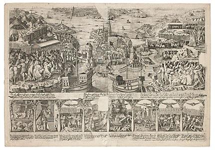 kristian ii:s intåg i stockholm (stockholms blodbad 1520) by dionysius padtbrugge