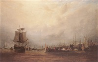 the landing of william iii at liverpool after the battle of the boyne by john wilson ewbank