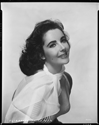 elizabeth taylor camera negative (from raintree country) by virgil apger