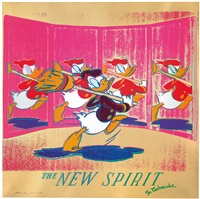 the new spirit (donald duck) by andy warhol