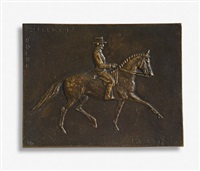 bronzefiguren / plaketten (pferde, hahn) (4 works, various sizes) by heide dobberkau