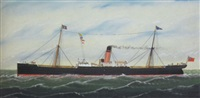ship portrait of the ellerman line's s.s.