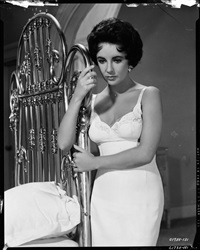 elizabeth taylor camera negative (from cat on a tin roof) by virgil apger