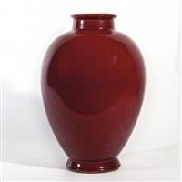 un vaso modello m 1254, decoro 409 e (gran rosso) by gio ponti