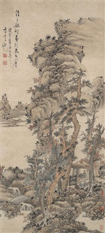 landscape after wang meng by lan ying