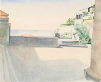 capri iv. terasse mit blick zum meer (from a sketch book) by peter foerster