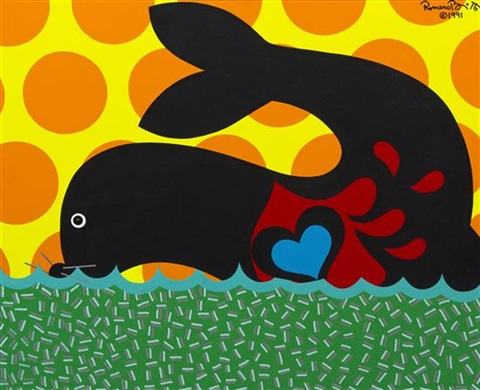 seal pup by romero britto