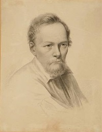 portrait of the danish sculptor and medalist christen christensen by edvard lehmann