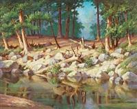 american river, south fork by vladimir pavlovich shkurkin