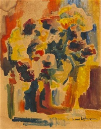 abstract with flowers by hans hofmann