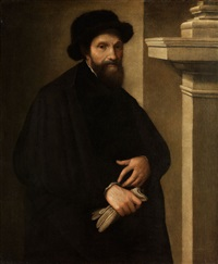 portrait des michelangelo buornarotti by lorenzo lotto