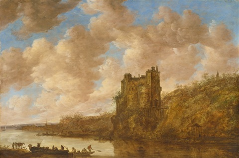 mighty castle on a rock by jan josefsz van goyen