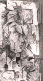 composition with head by charles murray foster