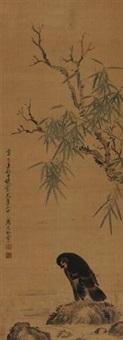 溪石戏羽 (bird leisuring alongside the spring) by ma yuanyu