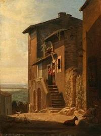 street life in ariccia, italy by hans jörgen hammer