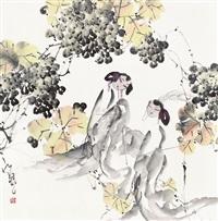 枇杷仕女图 (lady) by jiang feng