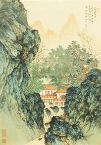 上隐碧溪图 by liu yongliang