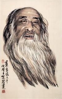 张大千肖像图 by liang yan