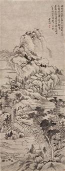 拟黄子久笔意 (landscape) by yun xiang
